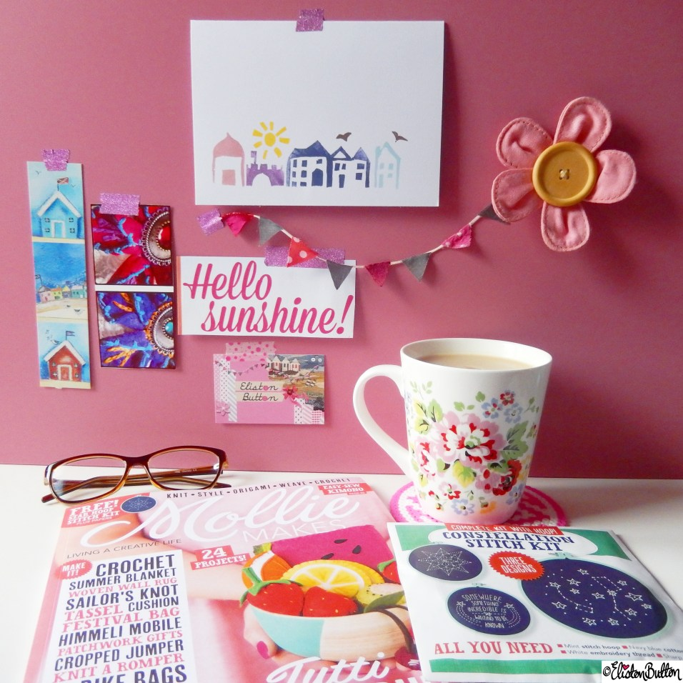 Mollie Makes Magazine, Cath Kidston Cup of Tea - Around Here...April 2015 at www.elistonbutton.com - Eliston Button - That Crafty Kid – Art, Design, Craft & Adventure.