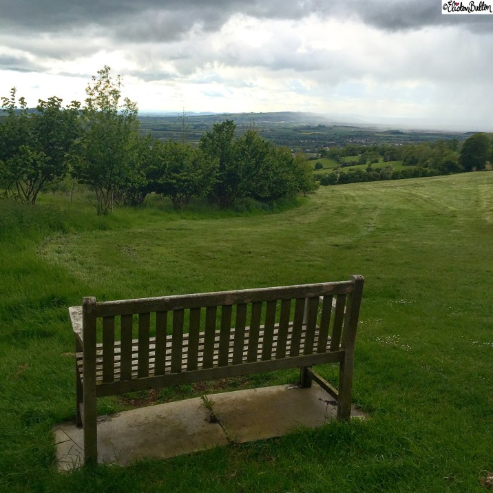 Broadway Hill Bench and View of the Countryside - Around Here...May 2015 at www.elistonbutton.com - Eliston Button - That Crafty Kid – Art, Design, Craft & Adventure.