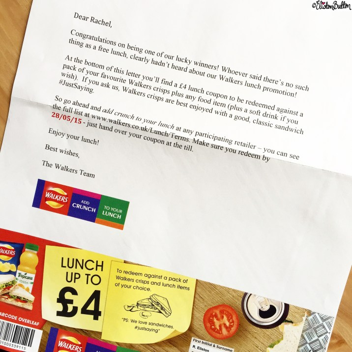 Free Lunch from Walkers Crisps - Around Here...May 2015 at www.elistonbutton.com - Eliston Button - That Crafty Kid – Art, Design, Craft & Adventure.