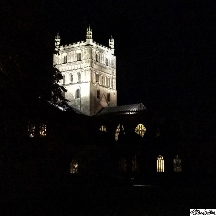 Tewkesbury Abbey Lit up on Bonfire Night - Around Here…November 2015 at www.elistonbutton.com - Eliston Button - That Crafty Kid