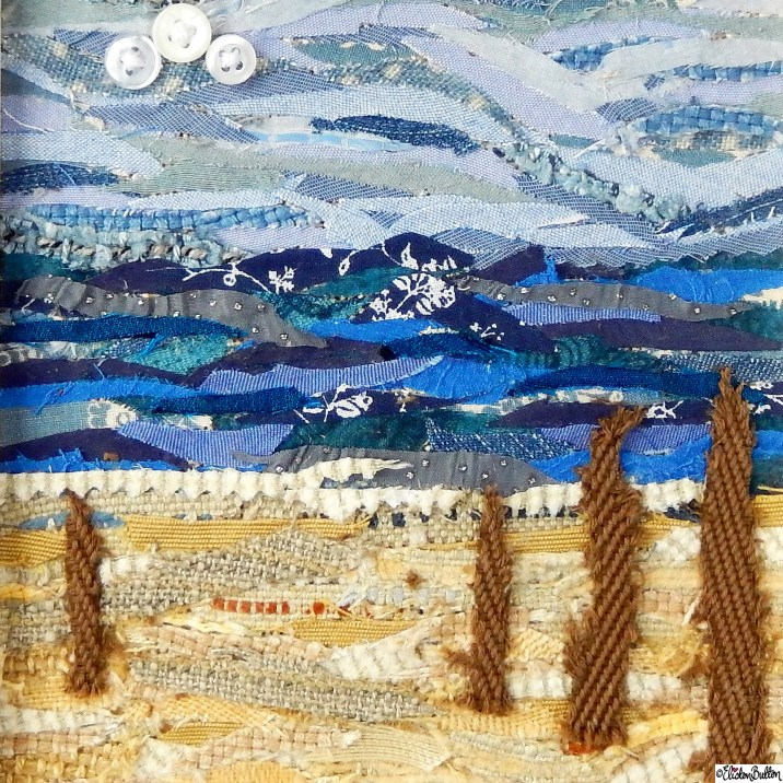 Day 08 - Landscape - A Fabric Beach Collage Called 'Driftwood' by Eliston Button on Etsy - Photo-a-Day - January 2016 at www.elistonbutton.com - Eliston Button - That Crafty Kid – Art, Design, Craft and Adventure.