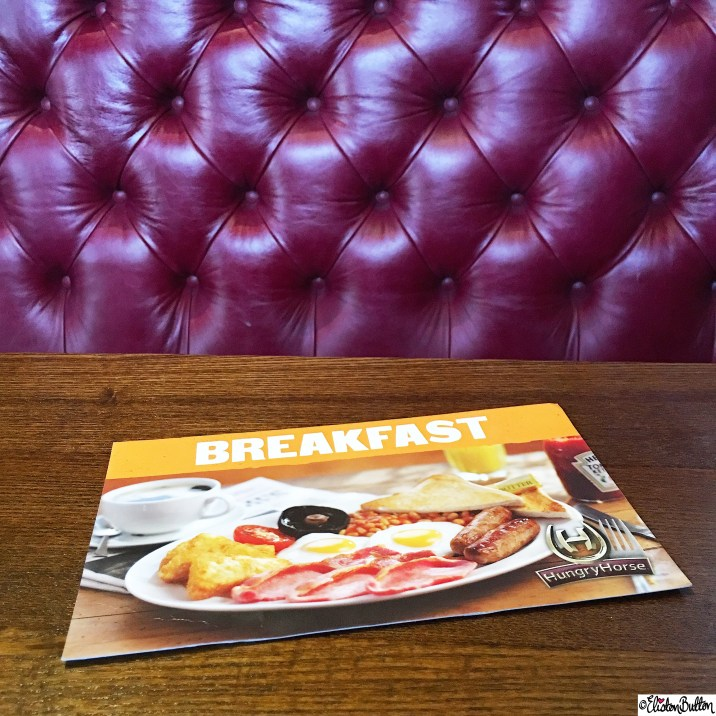 Day 10 - Lucky - Breakfast at Hungry Horse in a Red Plush Quilted Leather Booth - Photo-a-Day - January 2016 at www.elistonbutton.com - Eliston Button - That Crafty Kid – Art, Design, Craft and Adventure.
