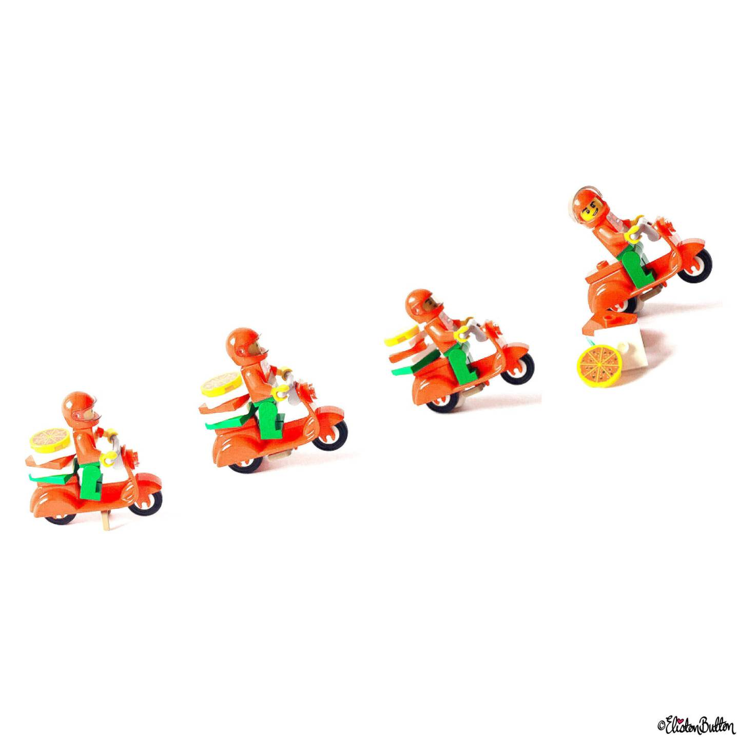 Day 20 - Movement - Lego Minifigure and Vespa Scooter - Photo-a-Day – March 2016 at www.elistonbutton.com - Eliston Button - That Crafty Kid – Art, Design, Craft & Adventure.
