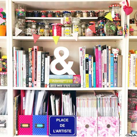 Day 03 - Starts with A - Ampersand on a Bookshelf in the Eliston Button Headquarters - Photo-a-Day – April 2016 at www.elistonbutton.com - Eliston Button - That Crafty Kid – Art, Design, Craft & Adventure.