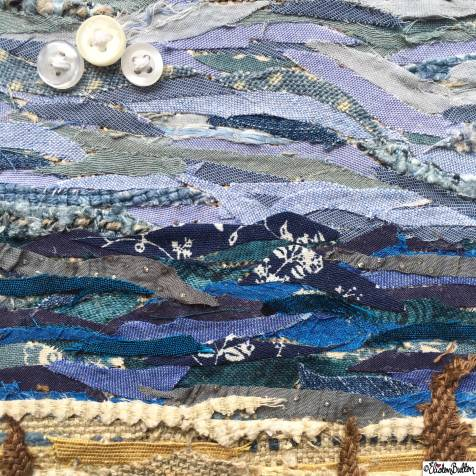 Day 26 - Sky - Fabric Collage, Button Clouds - Photo-a-Day – April 2016 at www.elistonbutton.com - Eliston Button - That Crafty Kid – Art, Design, Craft & Adventure.