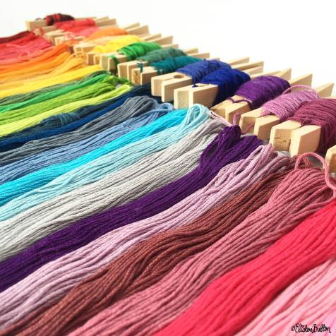 Day 19 - No Filter - A Rainbow of Embroidery Threads - Photo-a-Day – June 2016 at www.elistonbutton.com - Eliston Button - That Crafty Kid – Art, Design, Craft & Adventure.