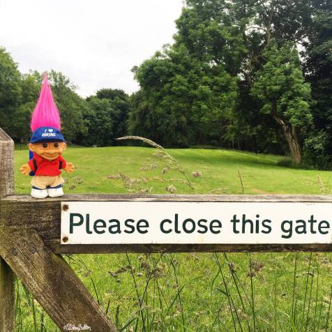 Day 23 - Far - I Love Hiking Troll in the Cotswold Countryside - Photo-a-Day – June 2016 at www.elistonbutton.com - Eliston Button - That Crafty Kid – Art, Design, Craft & Adventure.
