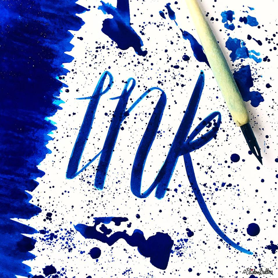 Day 09 - I is For...Ink - Blue Ink Word Art - Photo-a-Day - July 2016 - Eliston Button A-Z of Craft at www.elistonbutton.com - Eliston Button - That Crafty Kid – Art, Design, Craft & Adventure.