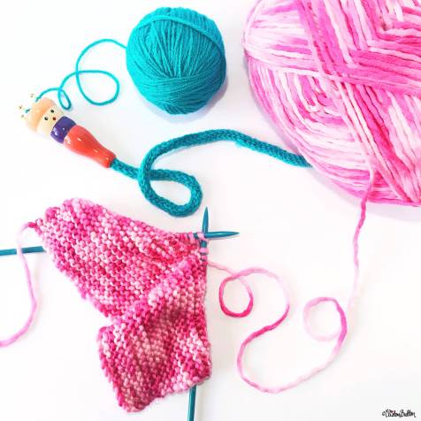 Day 11 - K is For...Knitting - Pink Knitting and Turquoise French Knitting Nancy - Photo-a-Day - July 2016 - Eliston Button A-Z of Craft at www.elistonbutton.com - Eliston Button - That Crafty Kid – Art, Design, Craft & Adventure.