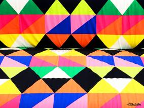 Rainbow Multi-Coloured Geometirc Sofa Fabric at IKEA, Birmingham - The Patterns and Colours of IKEA at www.elistonbutton.com - Eliston Button - That Crafty Kid – Art, Design, Craft & Adventure.
