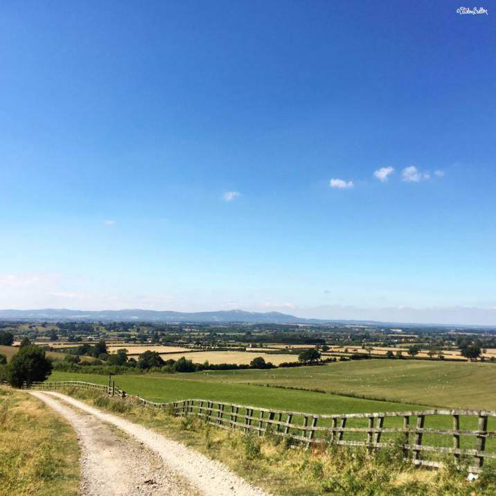 View from Bredon Hill to the Malvern Hills - Around Here…August 2016 at www.elistonbutton.com - Eliston Button - That Crafty Kid – Art, Design, Craft & Adventure.