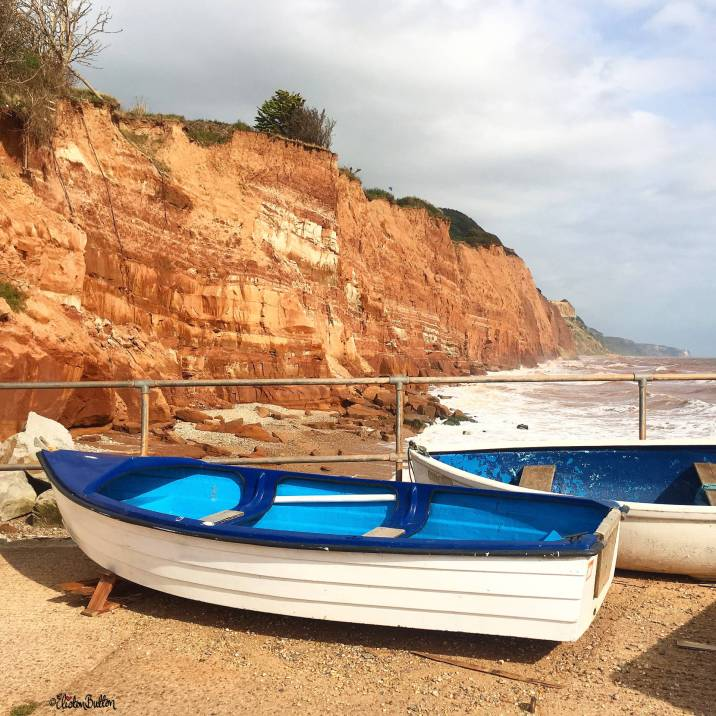 Boats on Sidmouth Seafront, Devon, UK - Around Here…September 2016 at www.elistonbutton.com - Eliston Button - That Crafty Kid – Art, Design, Craft & Adventure.