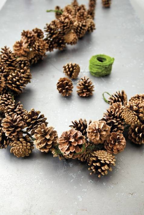 How to Make a Pinecone Garland by Patricia Palermo for Ballad Designs - Shared on For the Love of…Autumn at www.elistonbutton.com - Eliston Button - That Crafty Kid – Art, Design, Craft & Adventure.