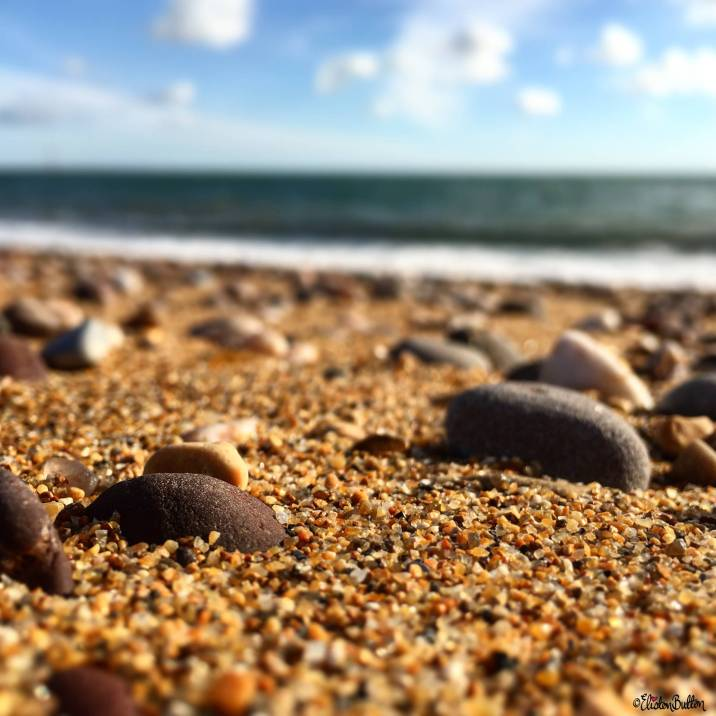 Pebbles on a Sandy Beach at Exmouth, Devon, UK - Around Here…September 2016 at www.elistonbutton.com - Eliston Button - That Crafty Kid – Art, Design, Craft & Adventure.