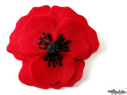 Poppy Embroidered Felt Flower Brooch by Eliston Button on Etsy - For the Love of…Autumn at www.elistonbutton.com - Eliston Button - That Crafty Kid – Art, Design, Craft & Adventure.