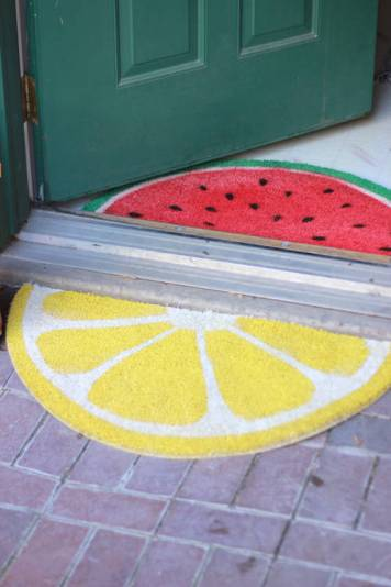 Fruit Welcome Mats by The House that Lars Built Blog - For the Love of…Summer at www.elistonbutton.com - Eliston Button - That Crafty Kid – Art, Design, Craft & Adventure.