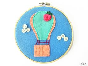 Create 30 - No. 1 - Hot Air Balloon Embroidery Hoop Art - Create 30 – I Did It! (And Future Plans) at www.elistonbutton.com - Eliston Button - That Crafty Kid – Art, Design, Craft & Adventure.