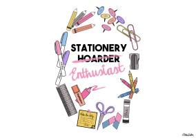 Create 30 - No. 19 - Stationery Enthusiast Print by Eliston Button - Create 30 – I Did It! (And Future Plans) at www.elistonbutton.com - Eliston Button - That Crafty Kid – Art, Design, Craft & Adventure.