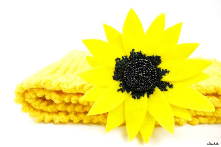 Sunny Days Sunflower Embroidered Felt Flower Brooch by Eliston Button on Etsy - Eliston Button Etsy Shop Refresh at www.elistonbutton.com - Eliston Button - That Crafty Kid – Art, Design, Craft & Adventure.