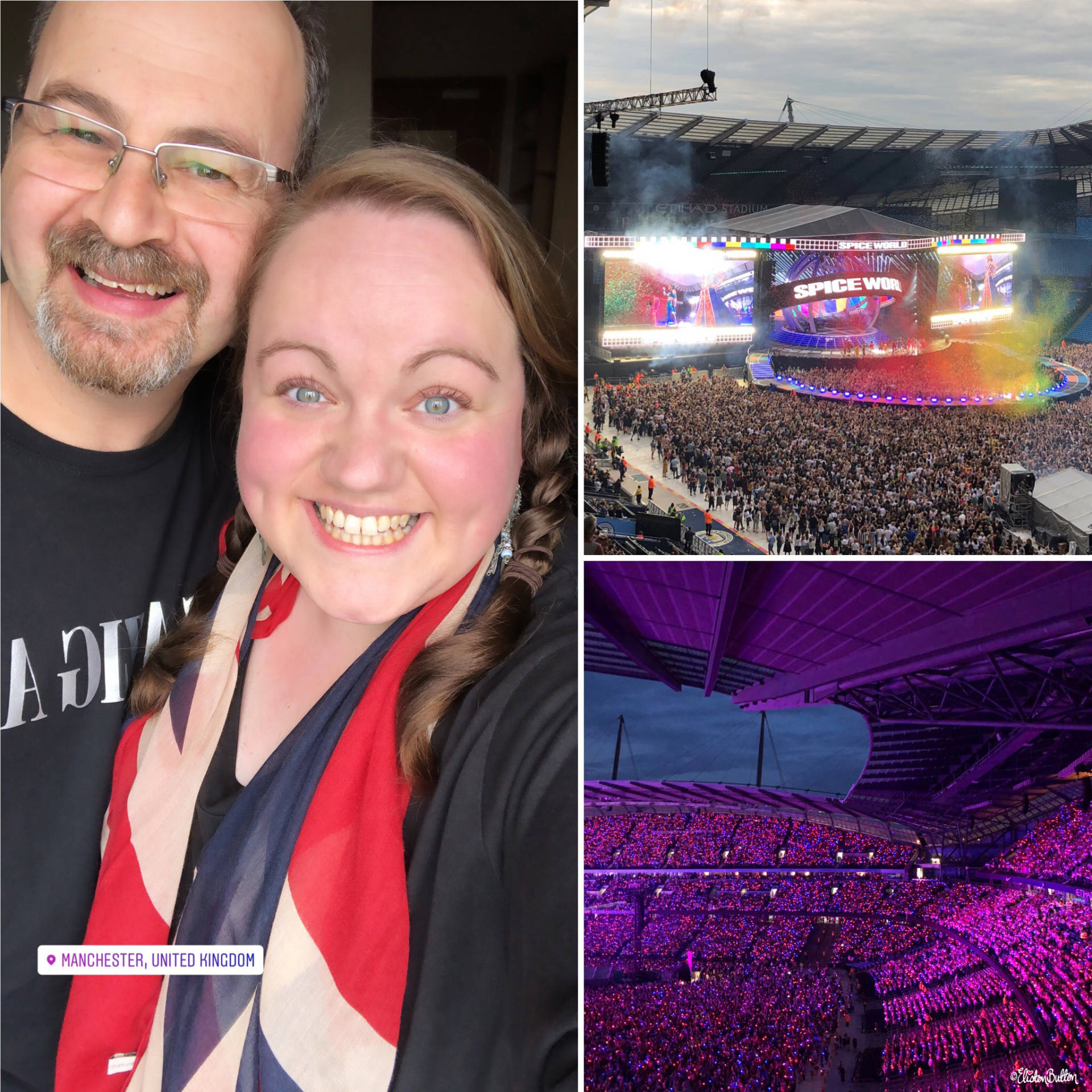 Spice Girls Concert - Manchester Etihad Stadium 2019 - Moments of Magic at www.elistonbutton.com - Eliston Button - A Treasure Trove of Creativity, Colour and Adventure.