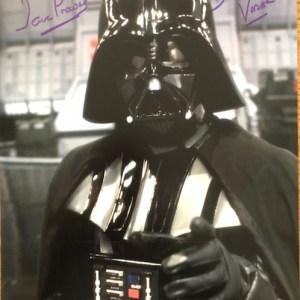 Dave Prowse Signed Darth Vader 11x14