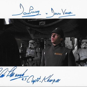 Dual Signed Dave Prowse & Chris Muncke 10x8