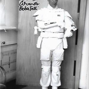 Alan Harris Signed Prototype Boba Fett 10x8