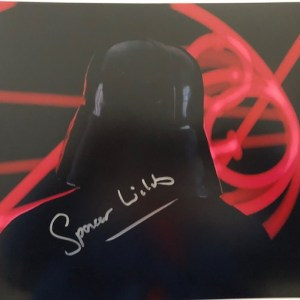 Spencer Wilding Signed Darth Vader Signed 11x14