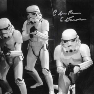 Chris Bunn Signed Stormtrooper 10x8