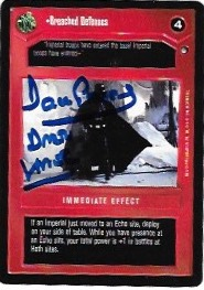 Dave Prowse Signed Breached Defences CCG Card
