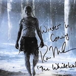 Ross Mullan Signed White Walker 10x8