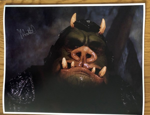 Graham Hattrick Signed Gamorrean Guard 11x14 With White Border