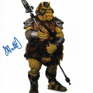 Graham Hattrick Signed Gamorrean Guard 10x8 With White Border