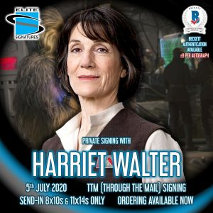 Harriet Walter Private Signing