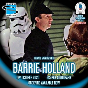Barrie Holland Private Signing