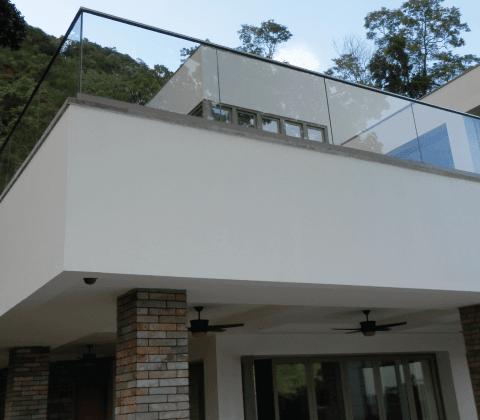 Glass Balustrade Systems Glass Balcony Railings Elite Balustrade   Glass Handrails For Balcony   Glass Guardrail   Exterior   Stainless Steel   Staircase   Veranda