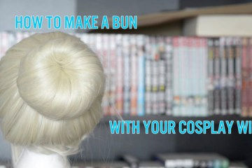 Cosplay wig bun tutorial
