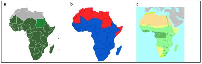 Saharan Areas Savanna Africa Sub Region