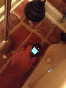 Moisture meter to test for leaks