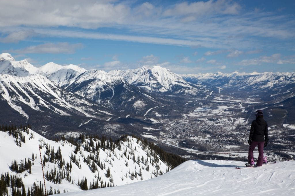 skiing in Fernie