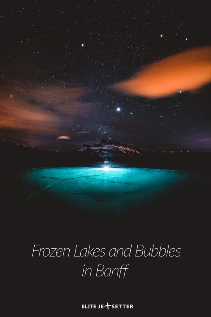 Frozen bubbles and frozen lakes two jack lake