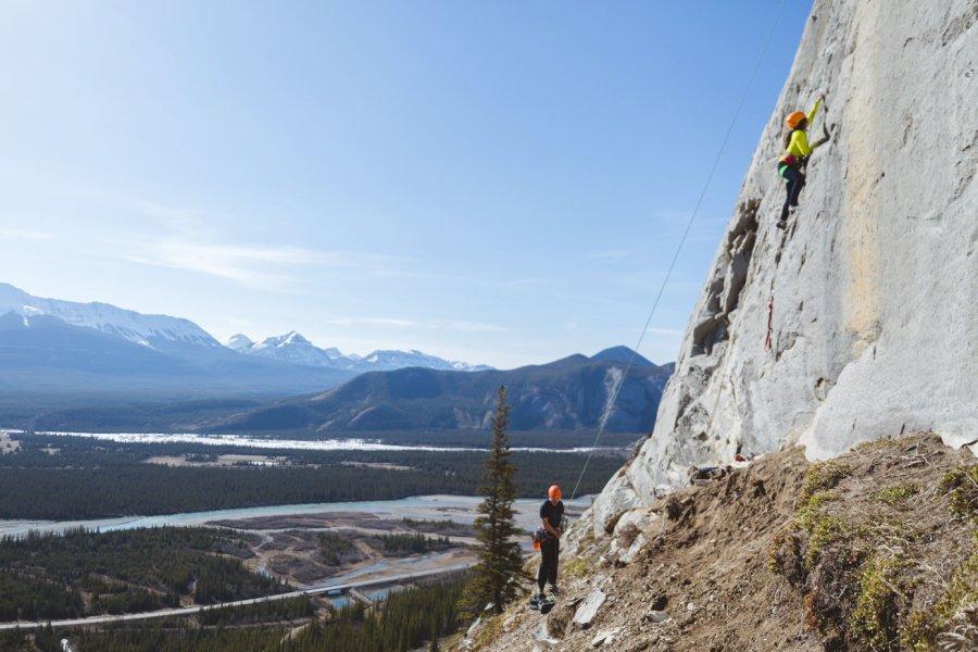 rock climbing jasper juno wall