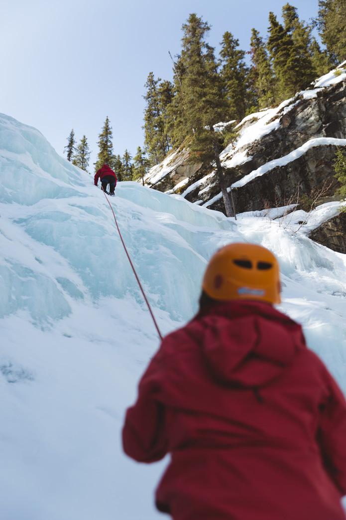 ice climbing in Jasper