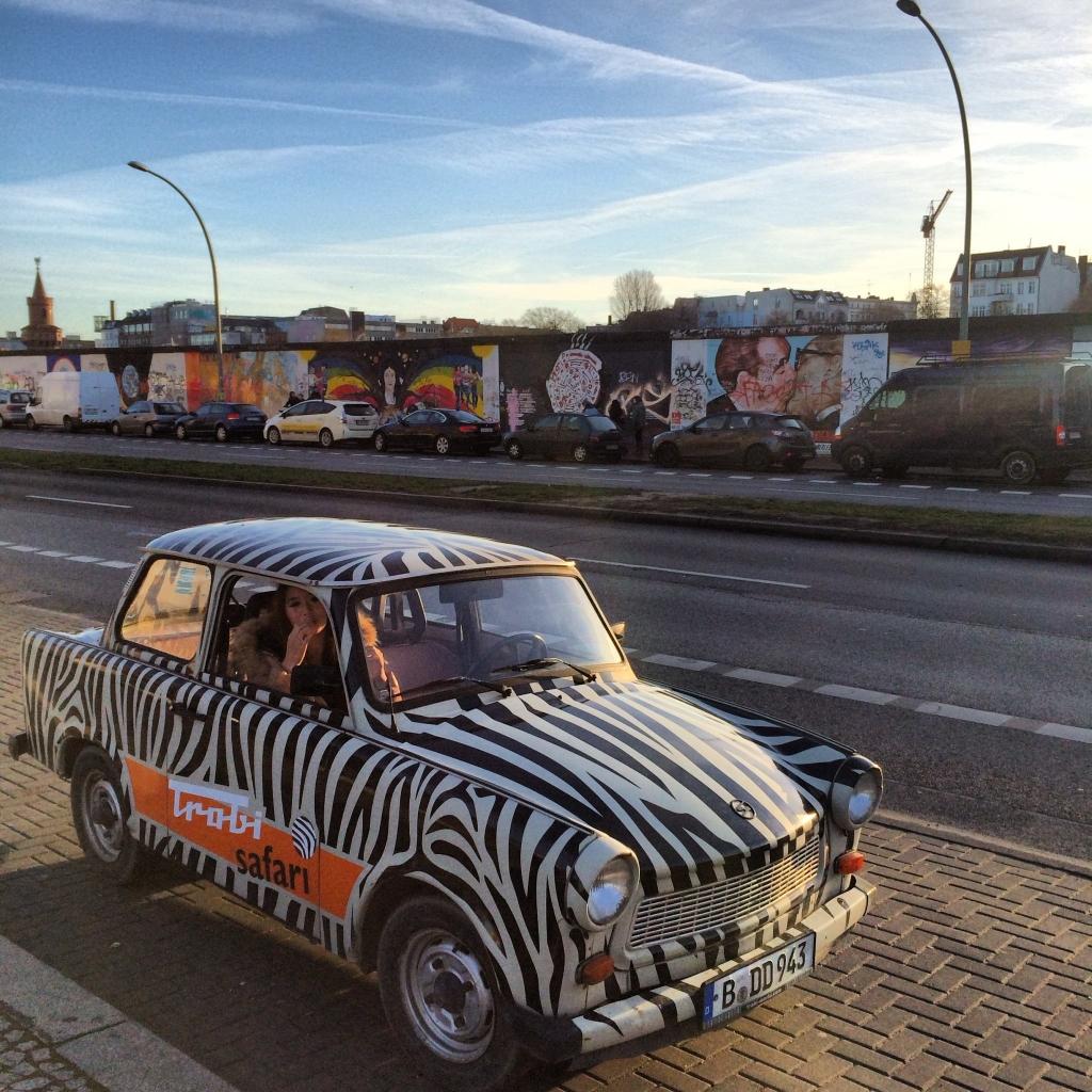 Driving the East German Trabi around Berlin