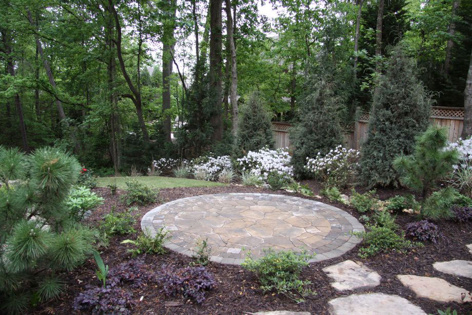 outdoor living stone patio stepping