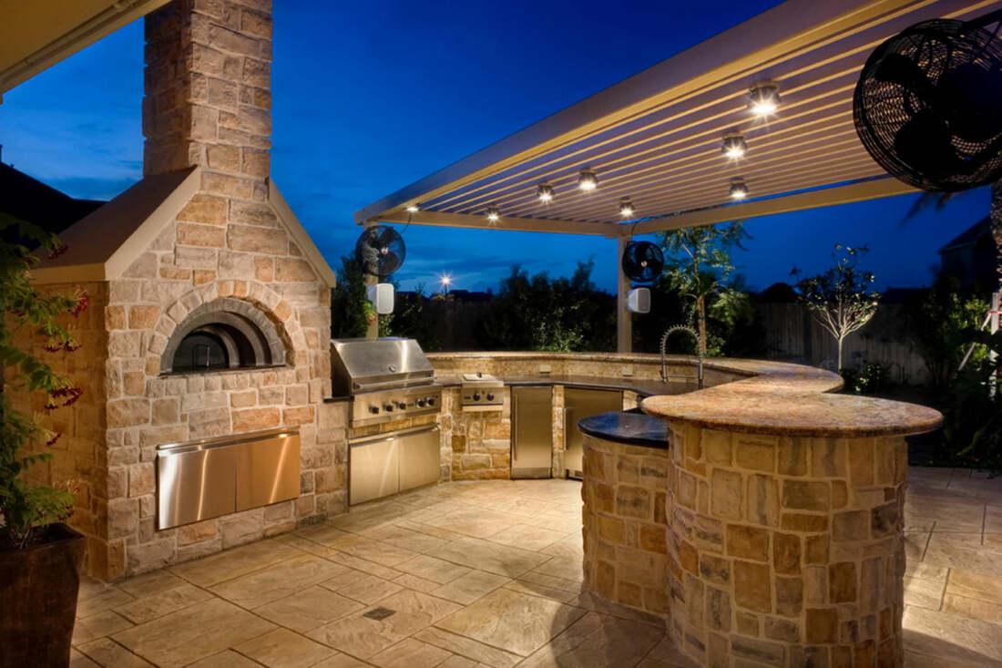 Elite Landscape Concrete | Outdoor Kitchen & BBQ Island ... on Backyard Patio Grill Island id=19827