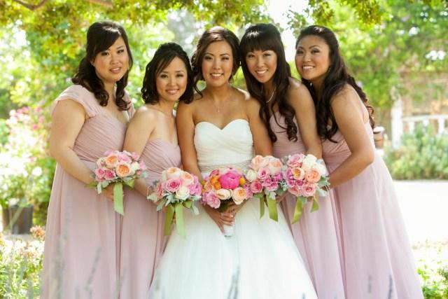 bridal hair and makeup photos: wedding at camarillo marriott
