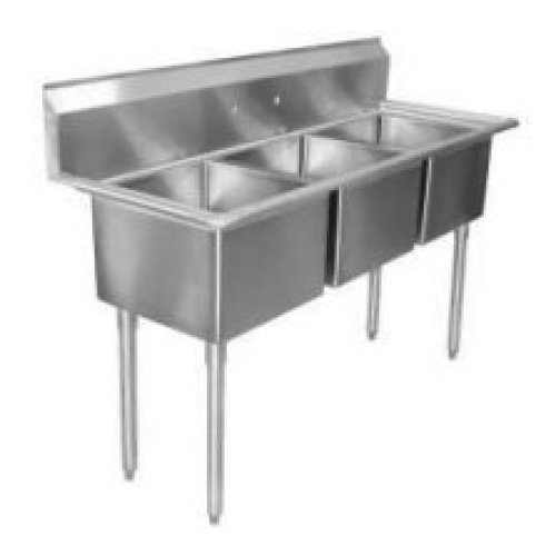 universal lj1216 3 41 three compartment sink nsf certified