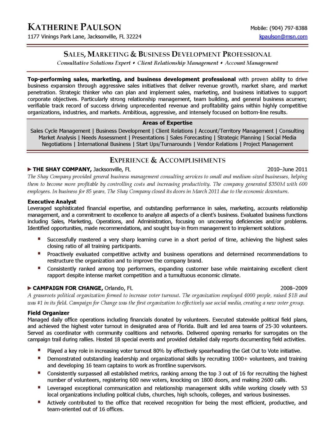 business development director resume sample provided by elite resume writing services