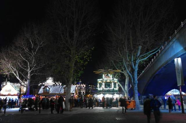 Christmas market at the Southbank Centre